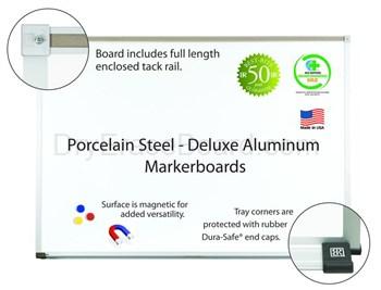 Porcelain Steel Markerboards-aluminum 4'H x 4'W