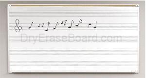 Porcelain Steel Music Line Board 4'H x 10'W