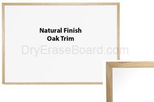 Oak Trim - Porcelain Steel Markerboard 1.5'H X 2'W