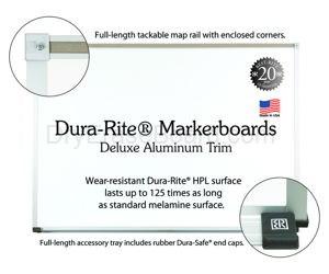 "Dura-Rite™ Markerboards 33.75""H x 48""W"