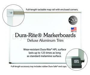 Dura-Rite™ Markerboards 4'H x 10'W