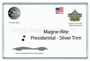 Presidential Trim - Magne-Rite Markerboard - 4'H x 8'W