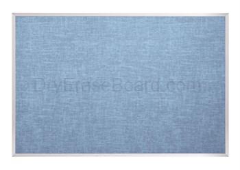 Vinyl Covered Cork-Plate Tackboard - Aluminum Trim 4'H x 5'W