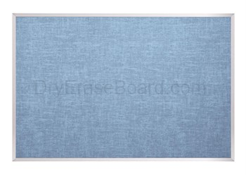 Vinyl Covered Cork-Plate Tackboard - Aluminum Trim 4'H x 10'W