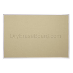 Fabric Covered Add-Cork Tackboards-Aluminum 4'H x 4'W