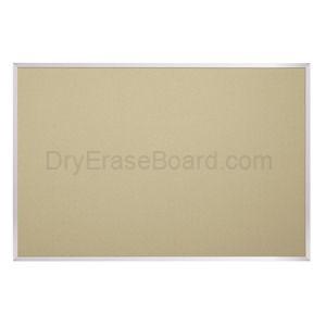 Fabric Covered Add-Cork Tackboards-Aluminum 4'H x 5'W