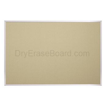 Fabric Covered Cork Plate Tackboards-Aluminum 4'H x 4'W