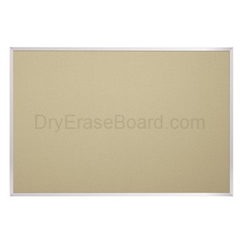 Fabric Covered Cork Plate Tackboards-Aluminum 4'H x 10'W