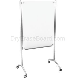 Enlighten Mobile Glass Dry Erase Whiteboard 4' x 3'