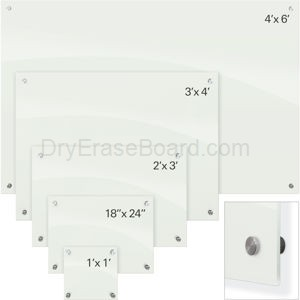Enlighten Glass Dry Erase Markerboard - White 1'H x 1'W