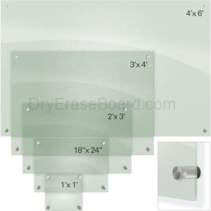 Enlighten Glass Dry Erase Markerboard - Frosted Pearl 2'H x 3'W