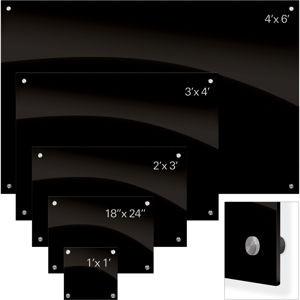 Enlighten Glass Dry Erase Markerboard - Black 1'H x 1'W