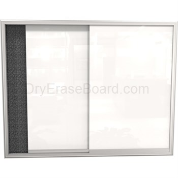 Visionary Glass Sliding Enclosed Cabinet