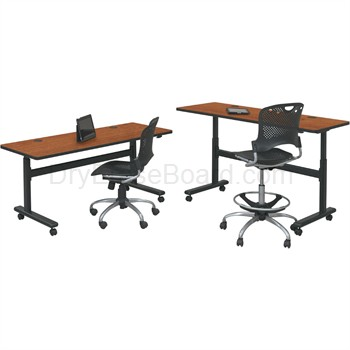 Adjustable Sit and Stand Flipper Tables