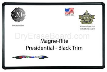 Presidential Black Trim - Magne-Rite Markerboards