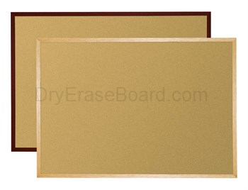 Natural Add-Cork Tackboards - Wood Trim