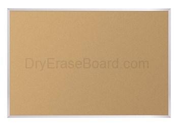 Natural Cork-Plate Tackboard - Aluminum Trim