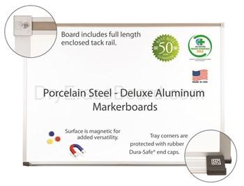 Deluxe Aluminum Porcelain Steel Markerboards