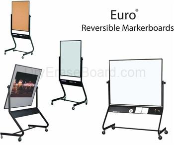 Euro Reversible White Dry Erase Marker Boards