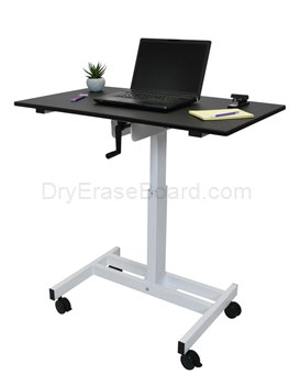Single Column Crank Stand Up Desk -SC40-WB - 40″