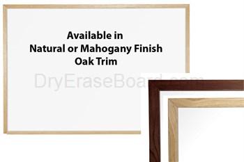 Wood Trim Porcelain on Steel Markerboards